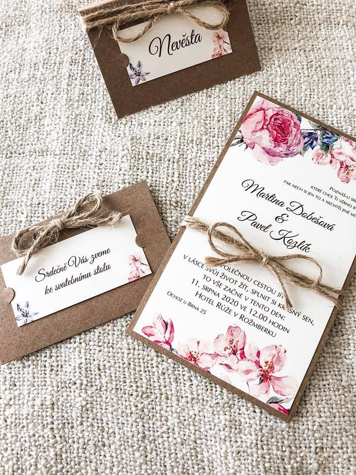 Svatební oznámení, tiskoviny a krabičky - Obrázek č. 38