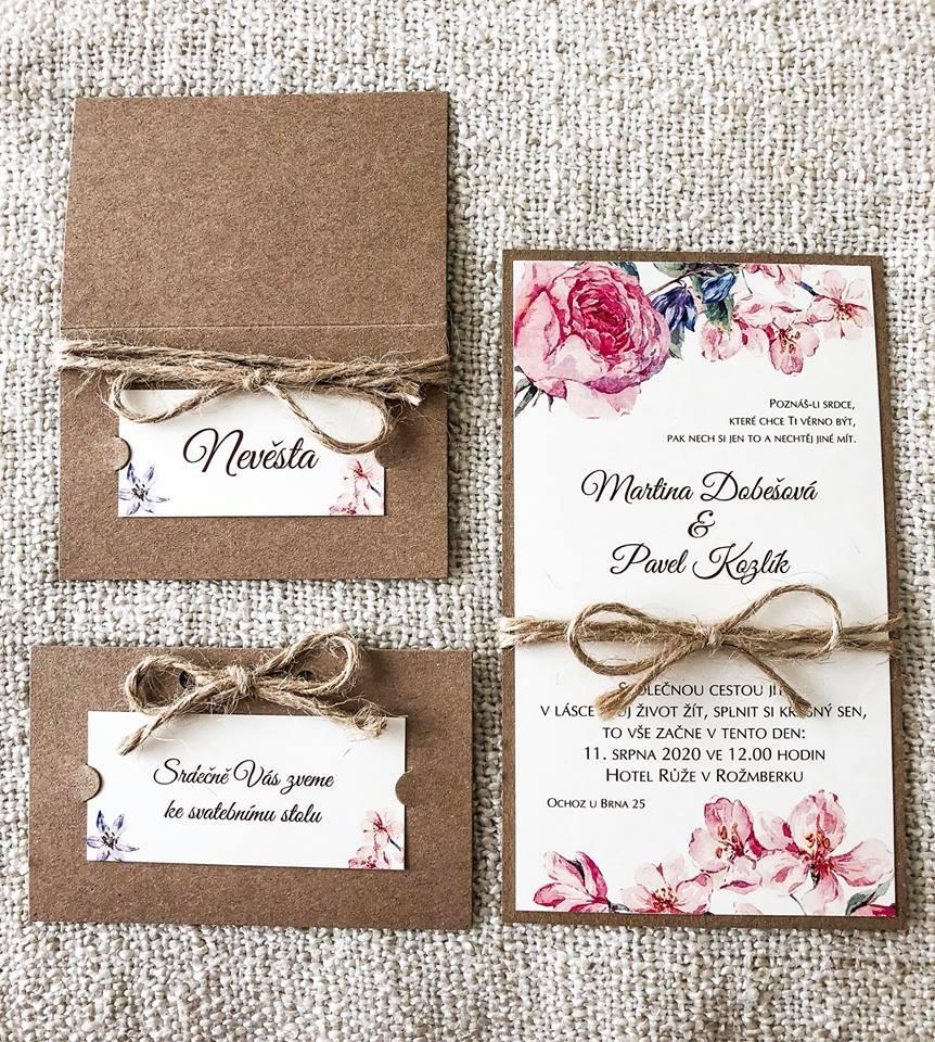 Svatební oznámení, tiskoviny a krabičky - Obrázek č. 40