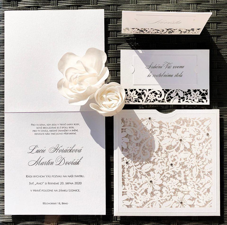 Svatební oznámení, tiskoviny a krabičky - Obrázek č. 41