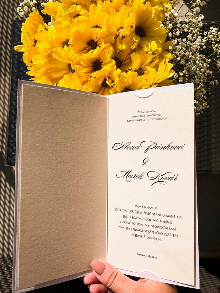 Svatební oznámení, tiskoviny a krabičky - Obrázek č. 45