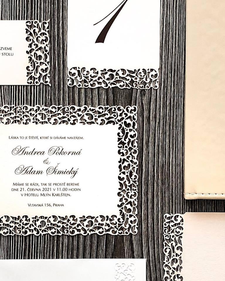 Svatební oznámení, tiskoviny a krabičky - Obrázek č. 53