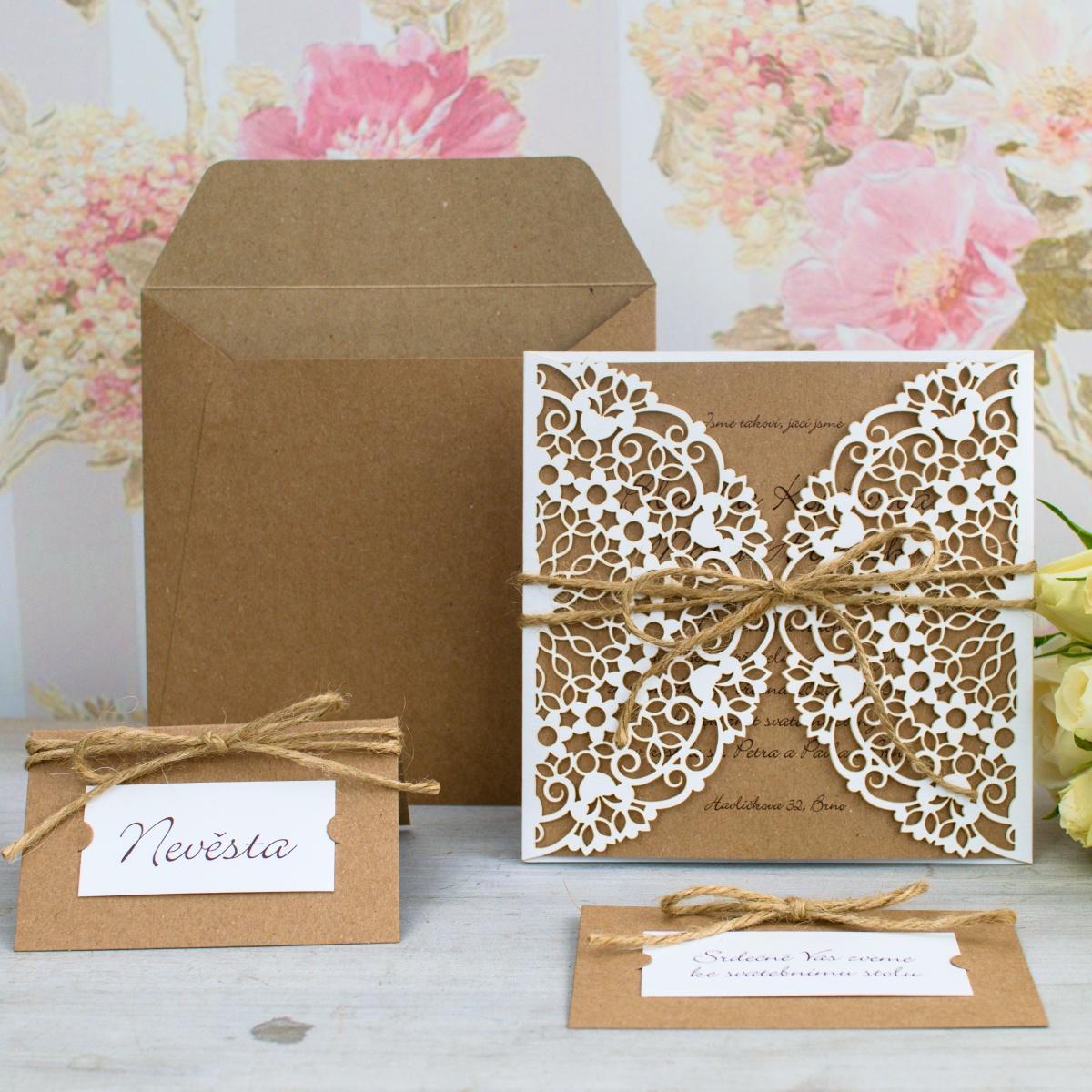 Svatební oznámení, tiskoviny a krabičky - Obrázek č. 95