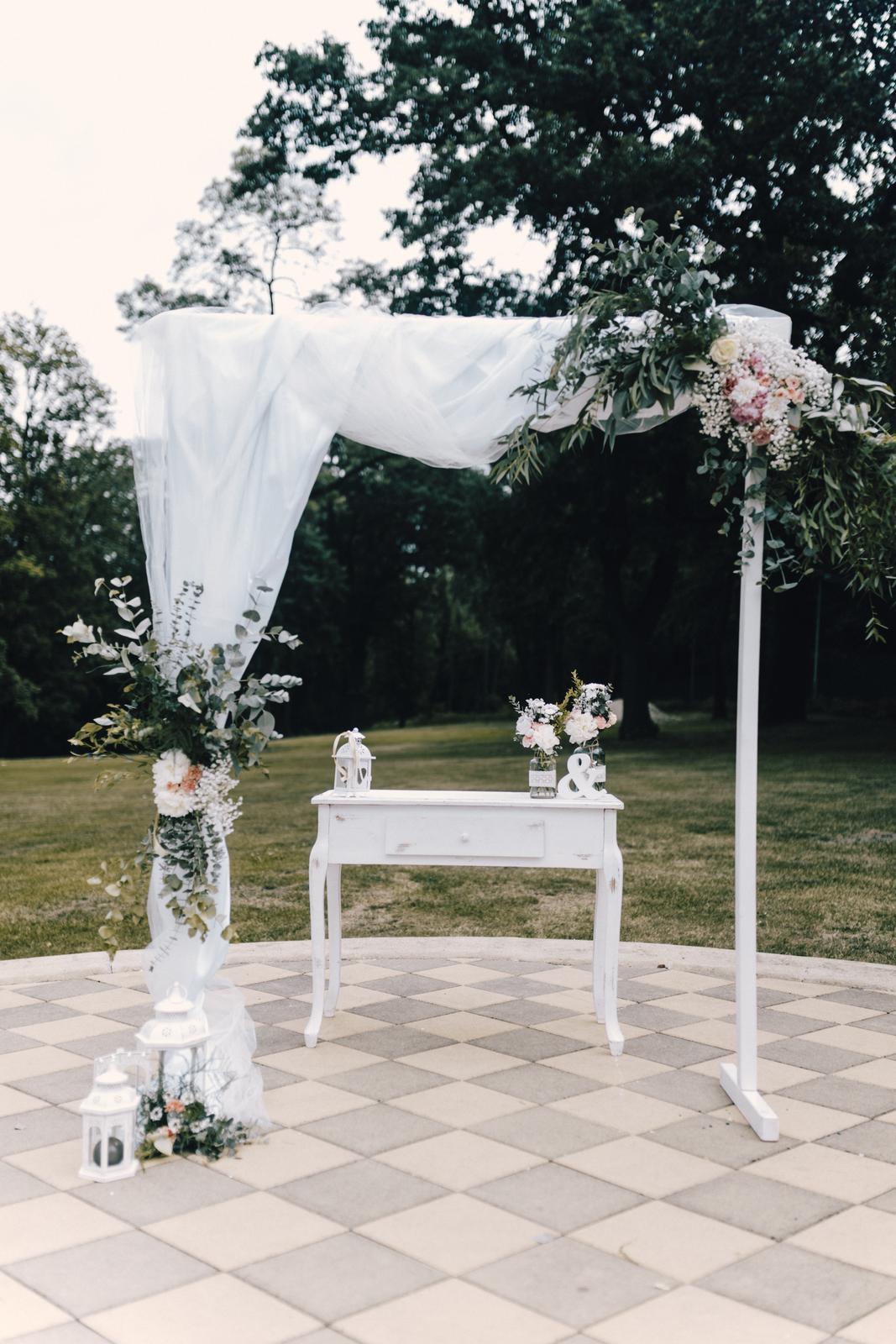 Svatební obřad 27.7.2019 Chateau St. Havel - Vyzdobanaklic.cz