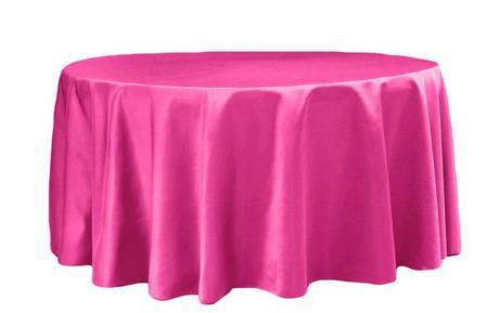 ubrus saténový růžový tmavý - fuchsie - Obrázek č. 1
