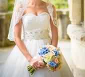 Kvalitné svadobné šaty, 36