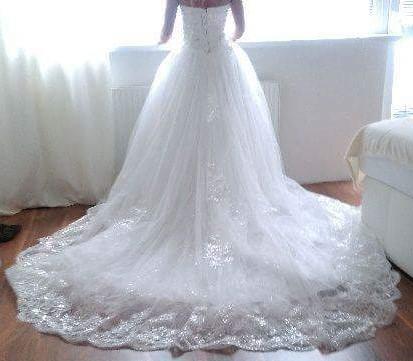 Princeznovské svadobné šaty 36-38 - Obrázok č. 3