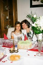 ...Michalka s babičkou...