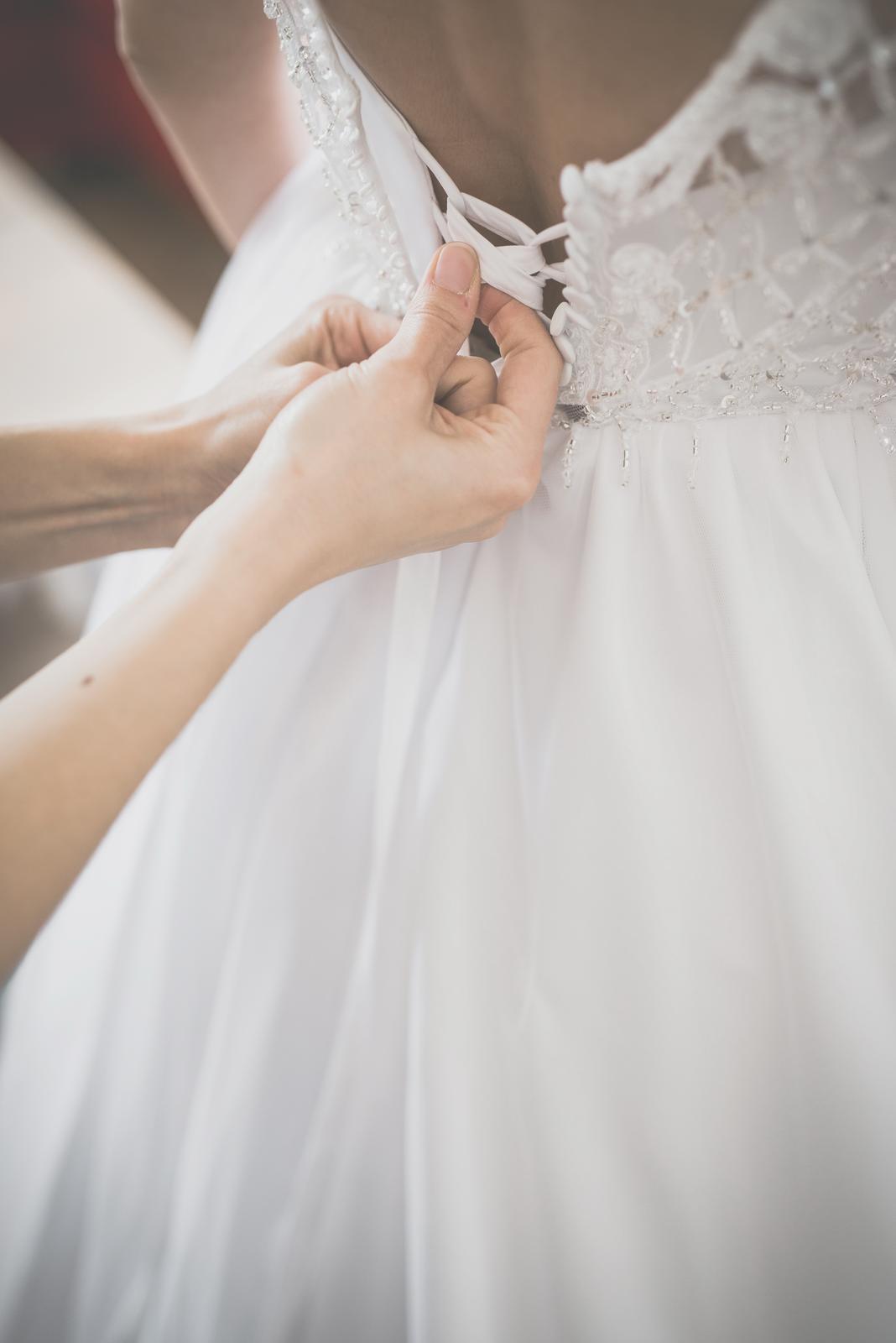 Svadobné šaty veľkosť 36-38  - Obrázok č. 3