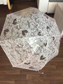 Krajkový transparentní deštník ,