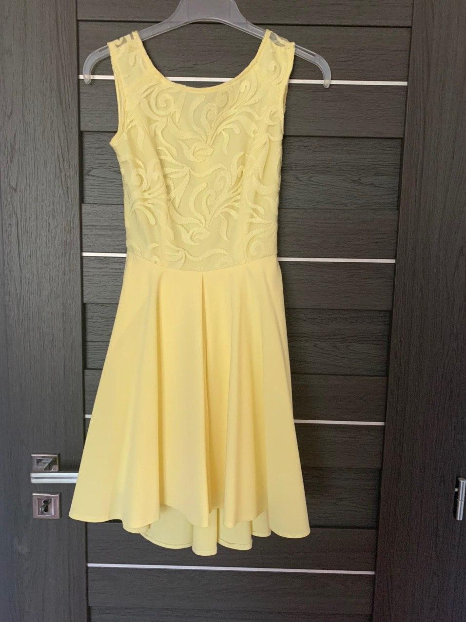 Predám krátke žlté spoločenské šaty - Obrázok č. 1