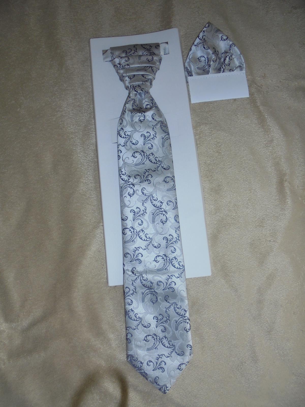 Svadobná kravata+vreckovka - Obrázok č. 3