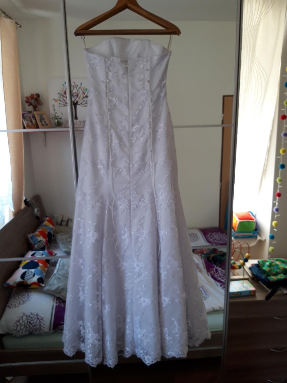 Krajkové svatební šaty XS-M - Obrázek č. 4