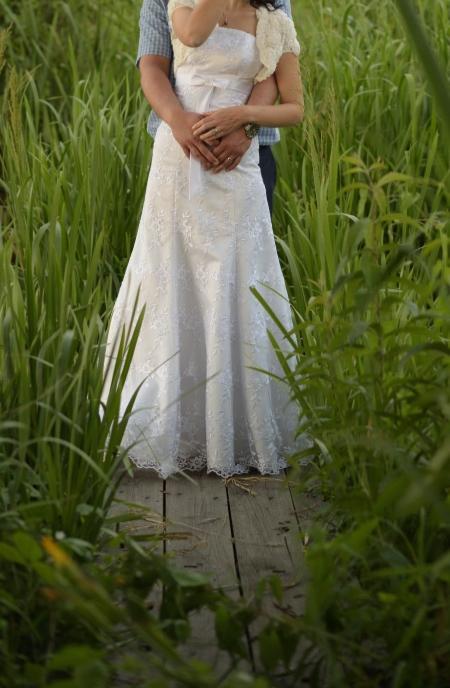 Krajkové svatební šaty XS-M - Obrázek č. 1