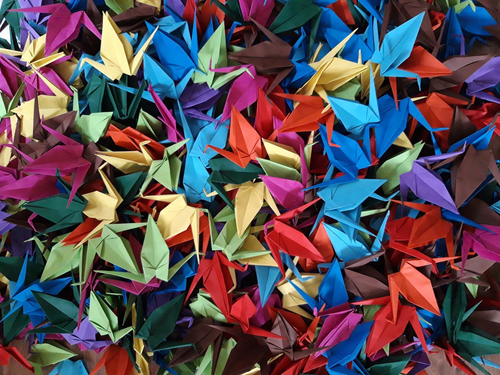 Origami jeřábi dekorace  - Obrázek č. 1
