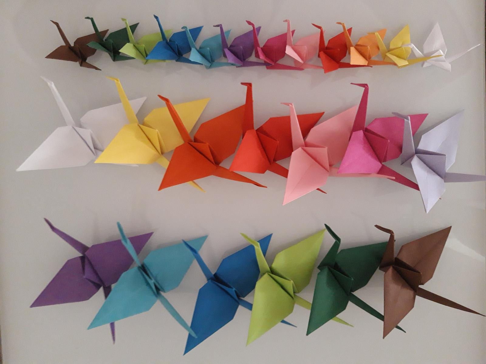 Origami jeřábi dekorace  - Obrázek č. 2