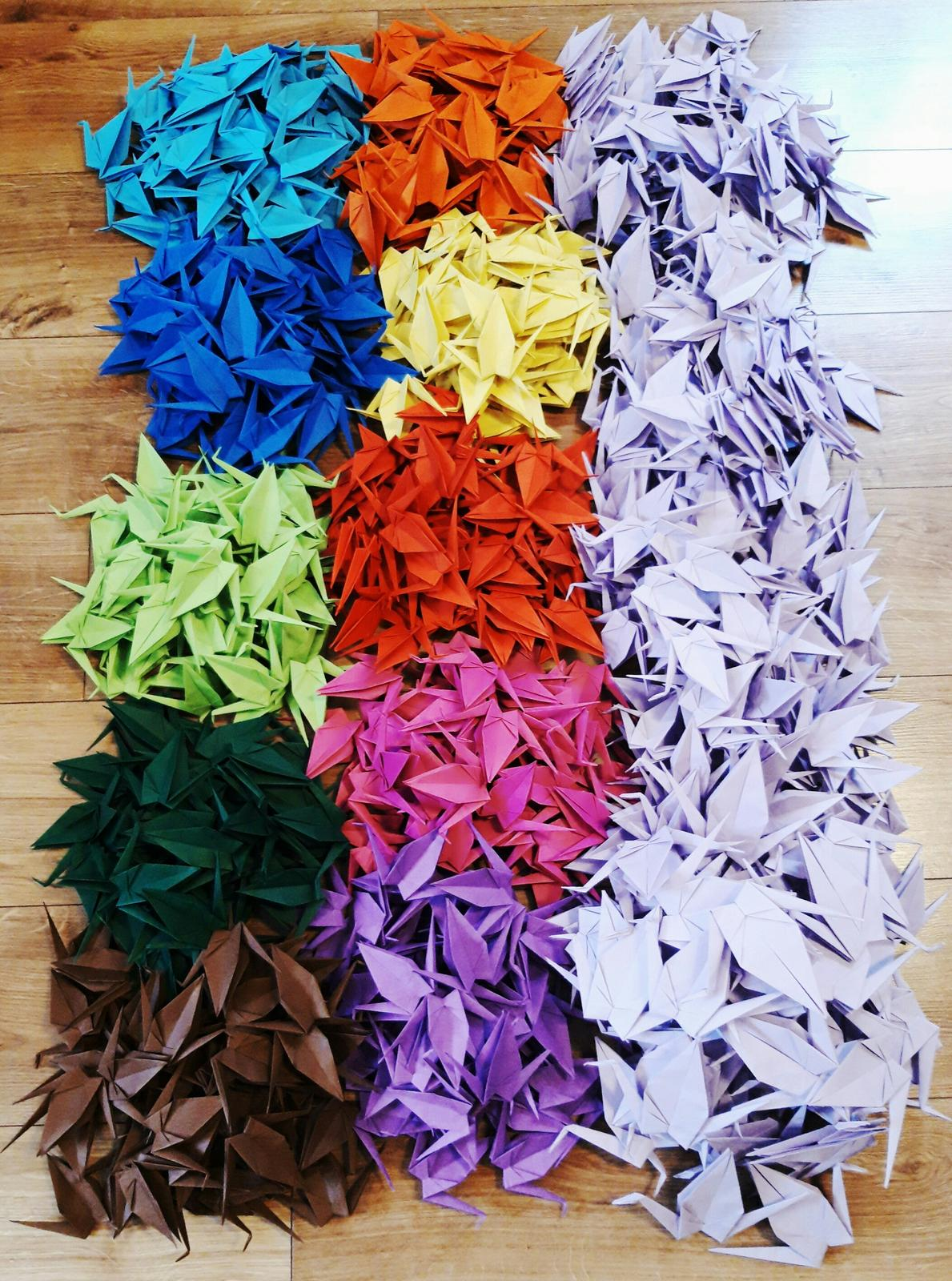 Origami jeřábi dekorace  - Obrázek č. 3