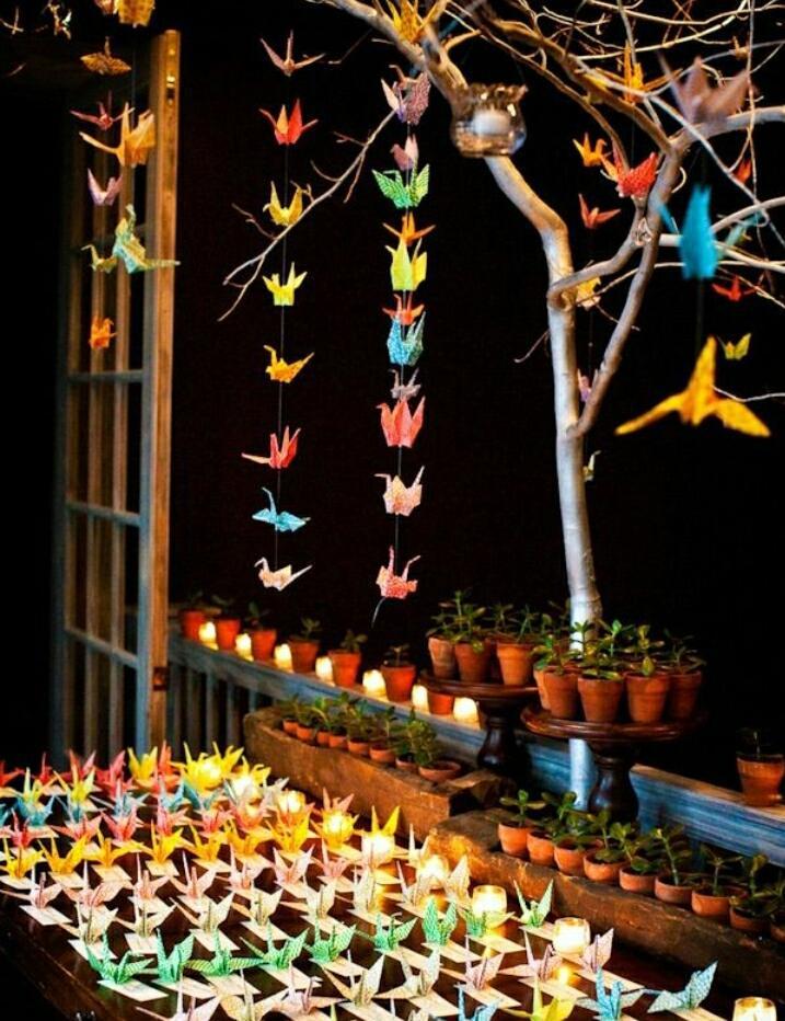 Origami jeřábi dekorace  - Obrázek č. 4