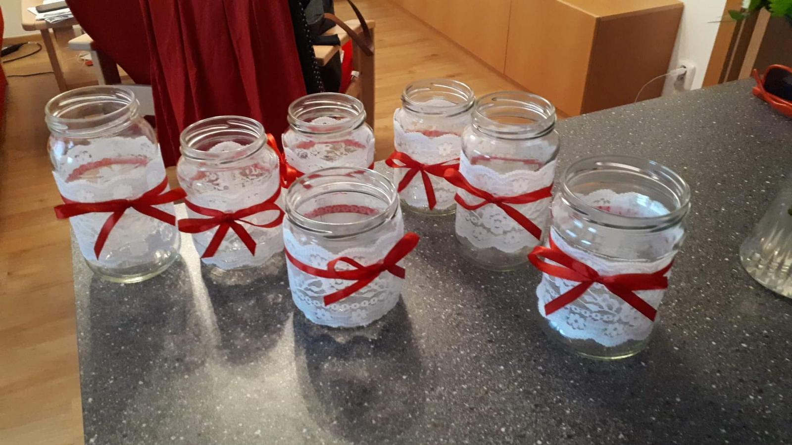 6 váziček ze sklenic - Obrázek č. 1