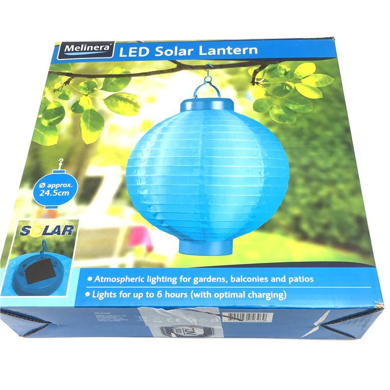 LED Solární lampion modrý - Obrázek č. 1