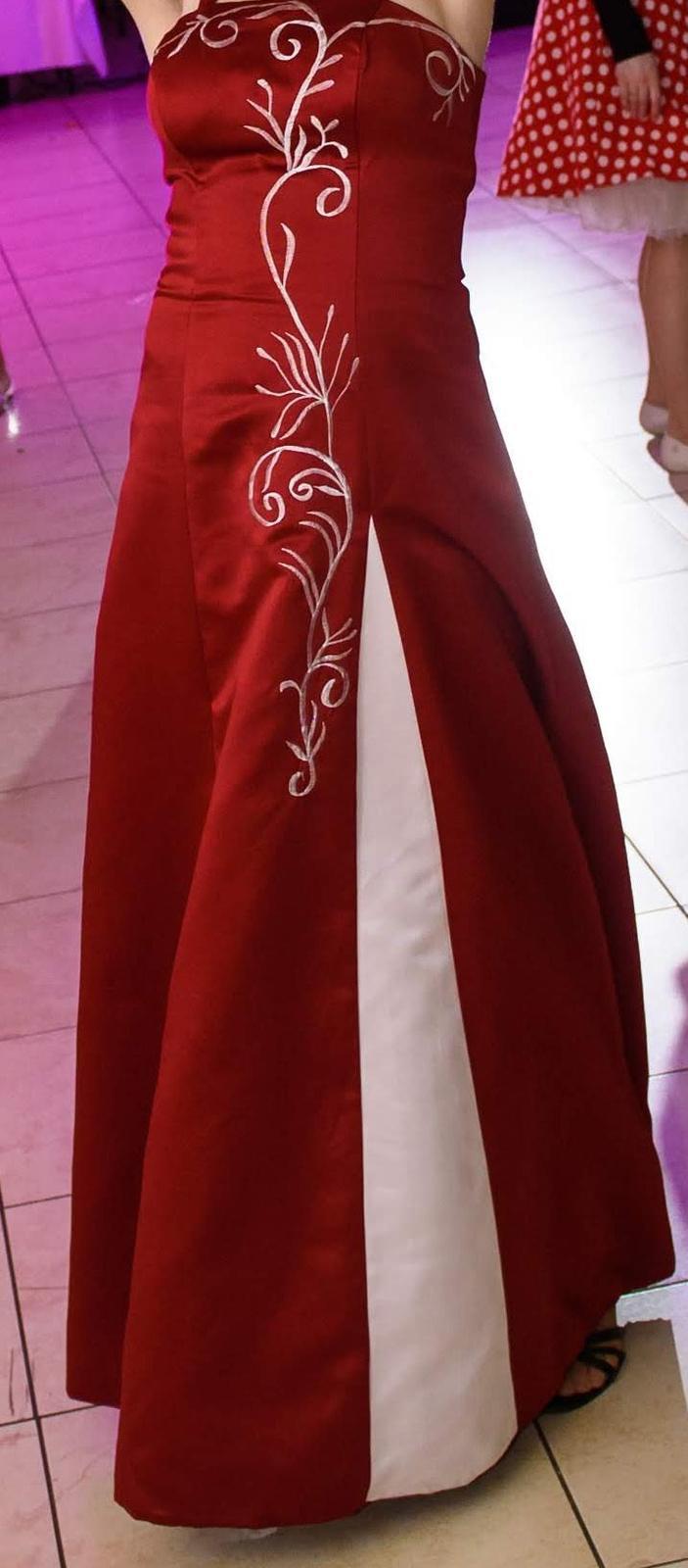 Červené spoločenské/popolnočné šaty - Obrázok č. 1