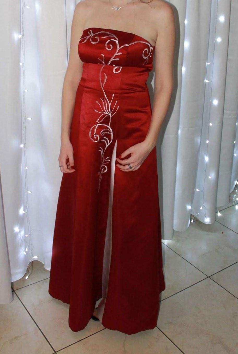 Červené spoločenské/popolnočné šaty - Obrázok č. 2