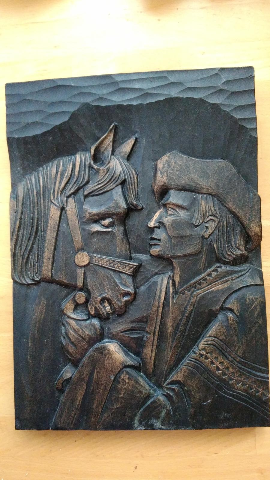 obraz kon a jazdec - Obrázok č. 1