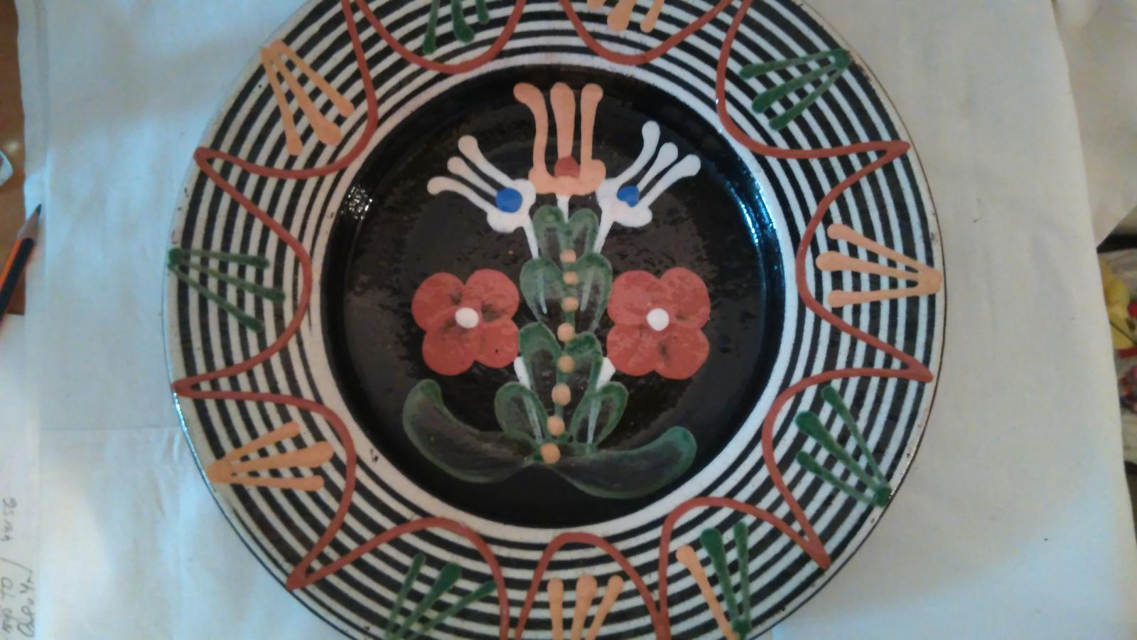 tanier maľovaný 3 tulipány - Obrázok č. 1