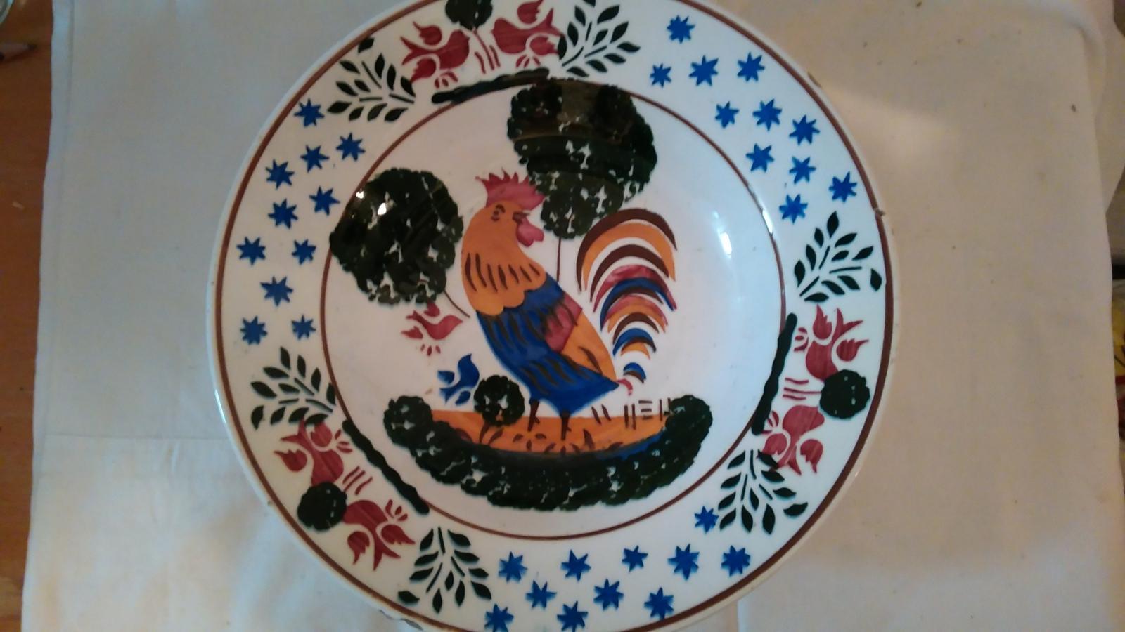 tanierik maľovaný kohútik - Obrázok č. 1