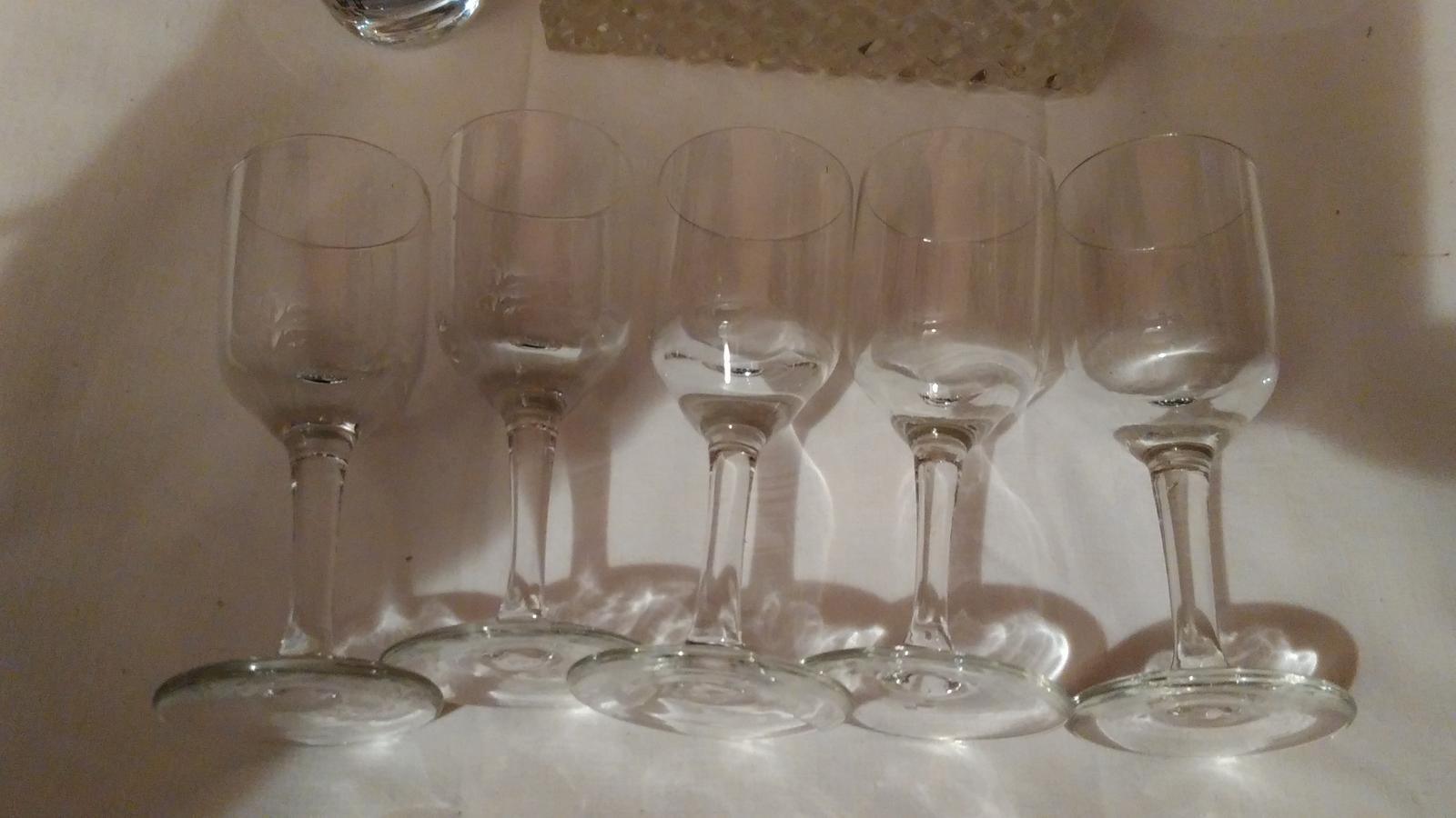 5 sklenených štamperlíkov - Obrázok č. 1