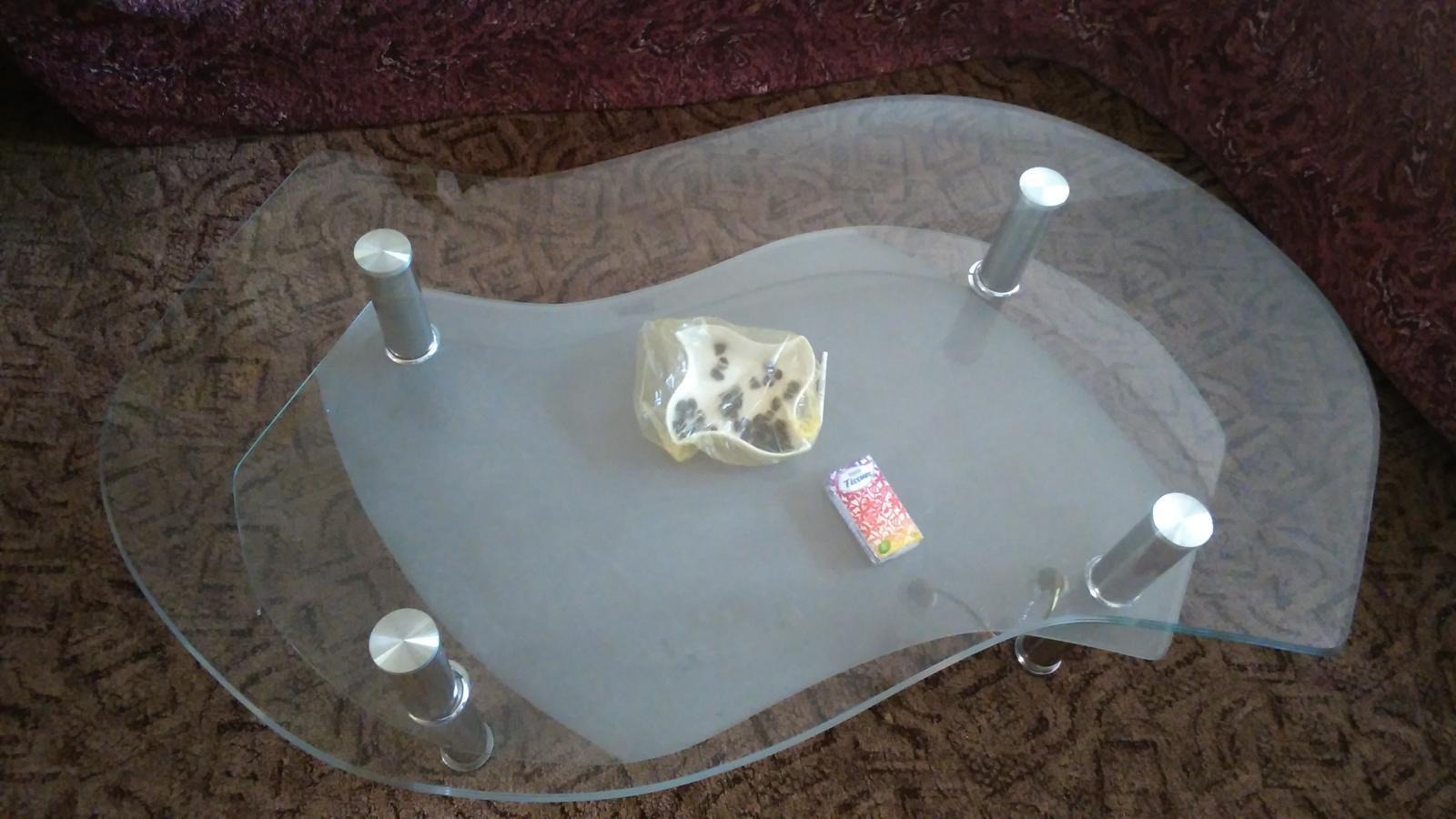 stolík sklenený - Obrázok č. 2