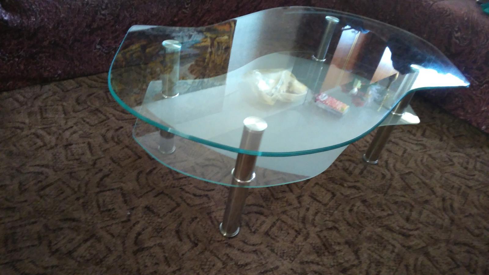 stolík sklenený - Obrázok č. 3