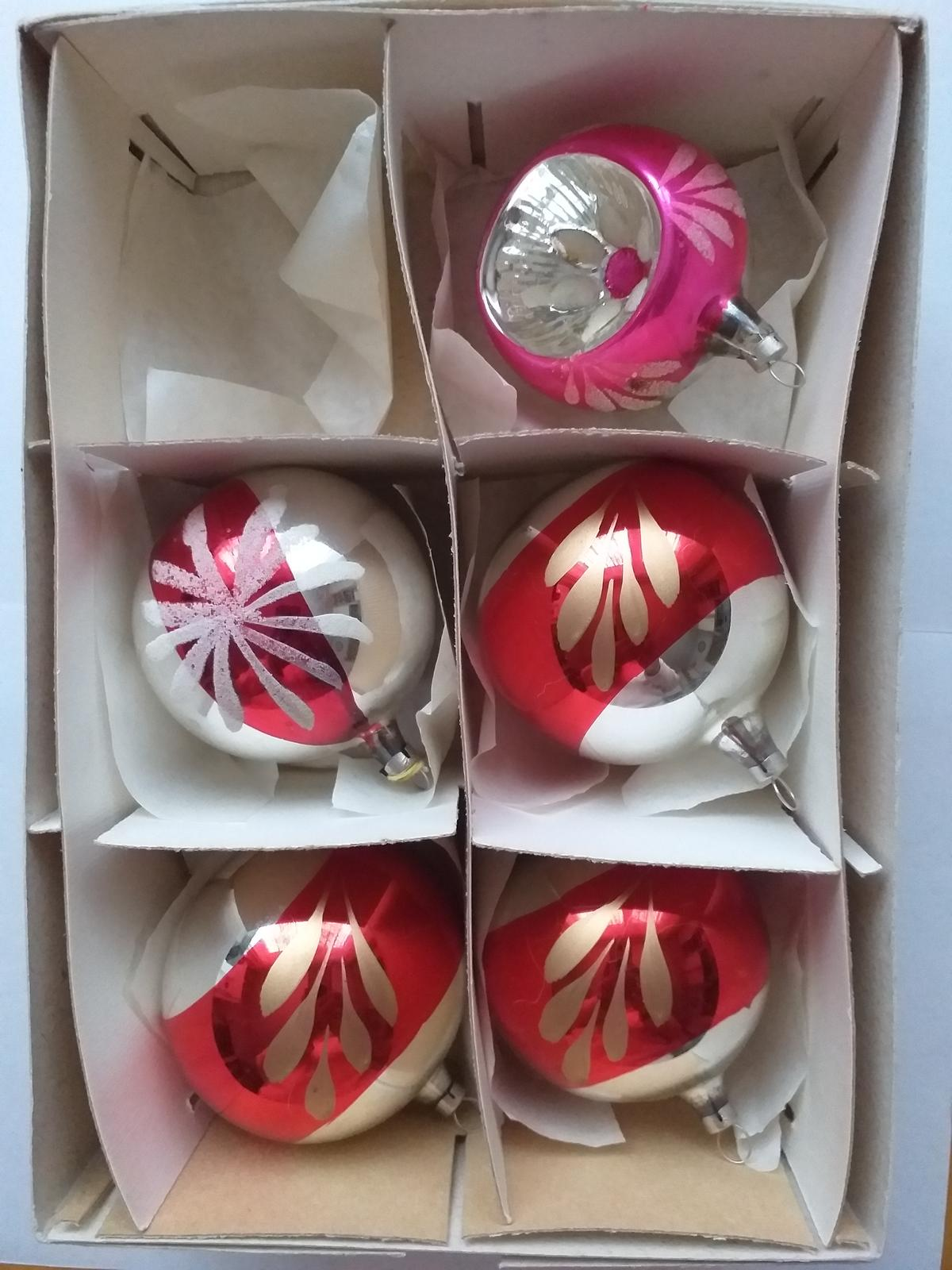 vianočné gule retro, sada 2 - Obrázok č. 1