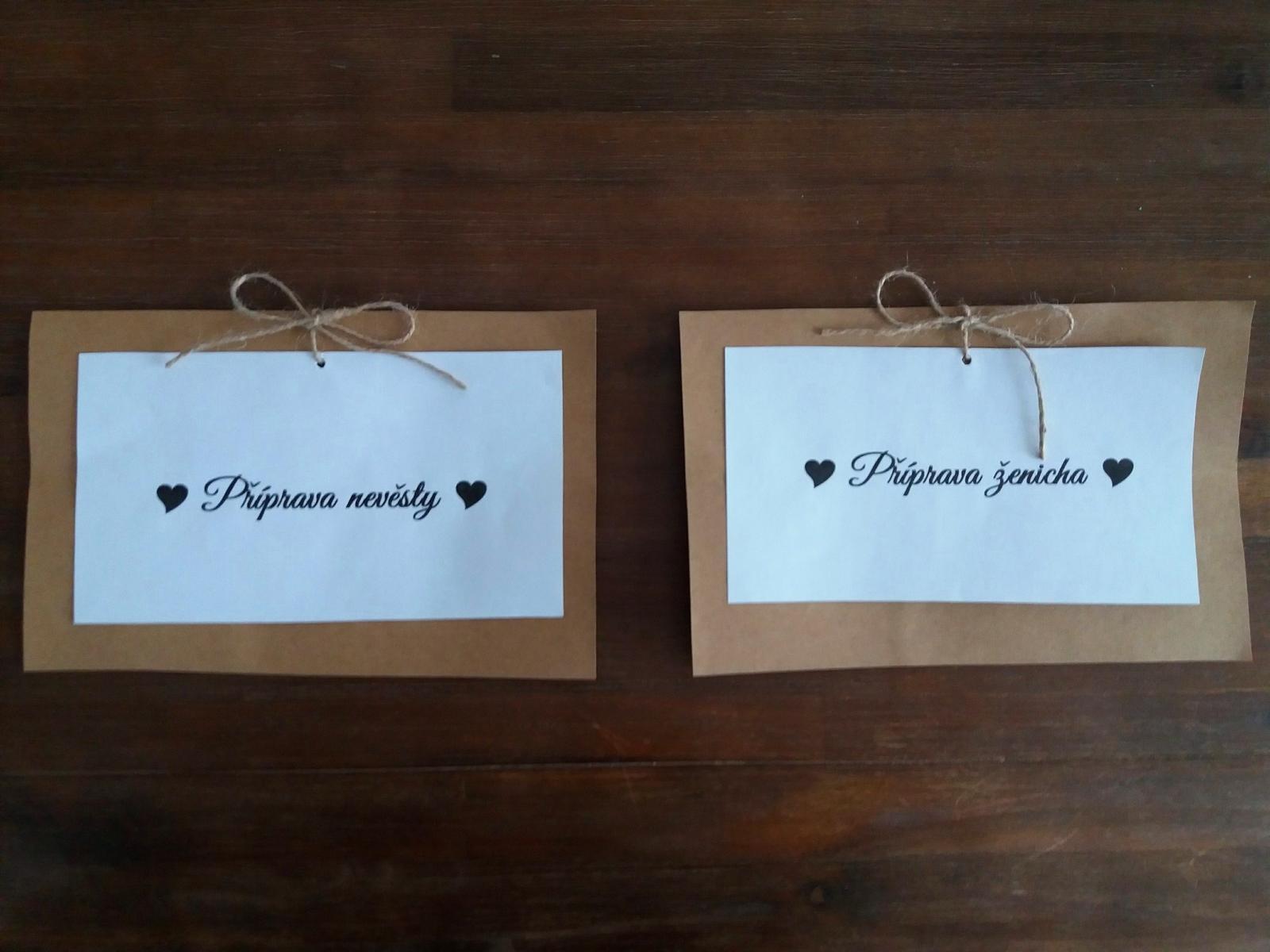 """Cedulka """"Příprava nevěsty"""" a """"Příprava ženicha"""". - Obrázek č. 3"""