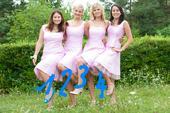 Set 4 šatů pro drůžičky - světle růžová, 38