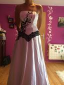 Čierno - biele popolnočné šaty (36),