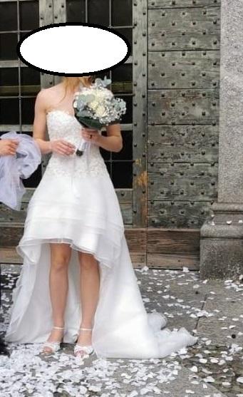 kratke/asymetricke svadobne saty z Talianska/Milana - Obrázok č. 3