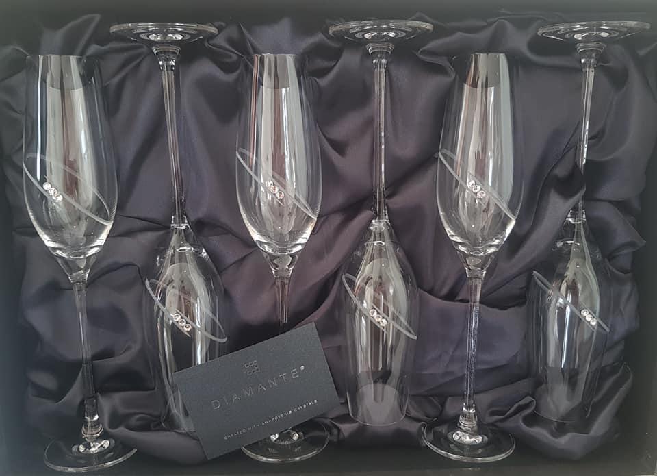 Sada pohárov na šampanské Swarovski  - Obrázok č. 1