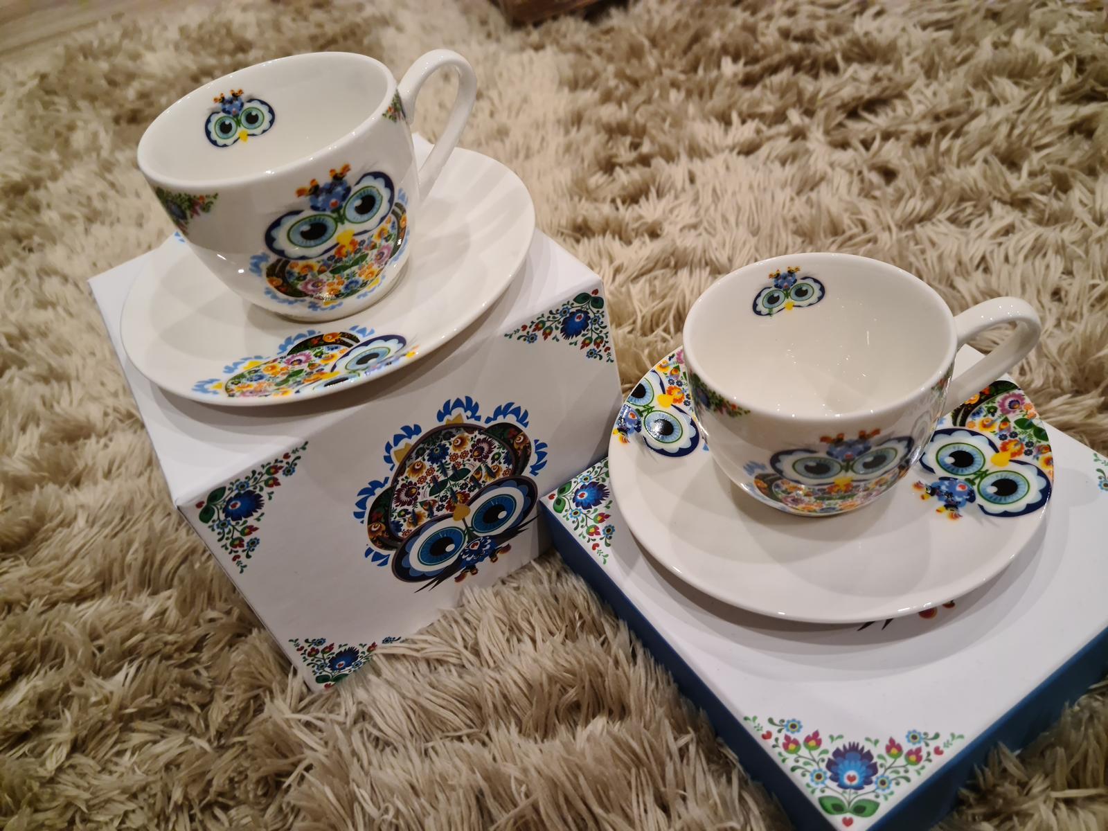 NOVÉ Porcelánové šálky espresso - Obrázok č. 1