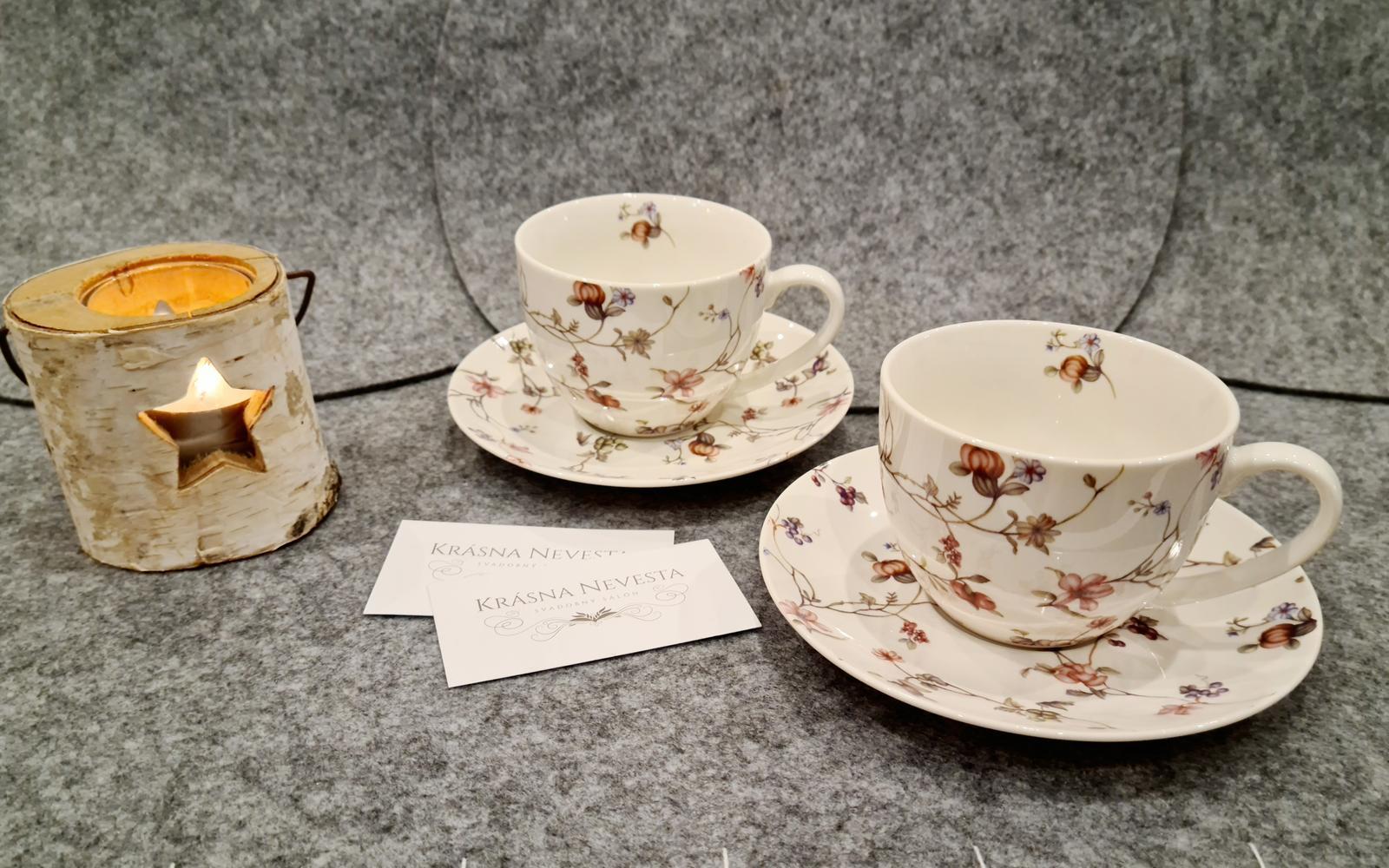 Sada porcelánových šálok na kávu - Obrázok č. 1