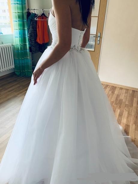 Princeznovské svatební šaty s-m - Obrázek č. 2