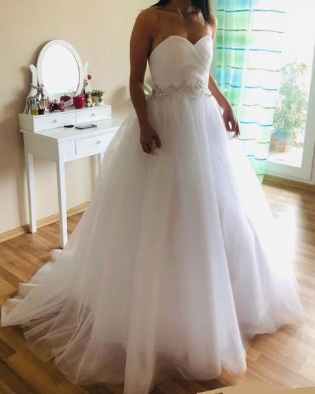 Princeznovské svatební šaty s-m - Obrázek č. 1