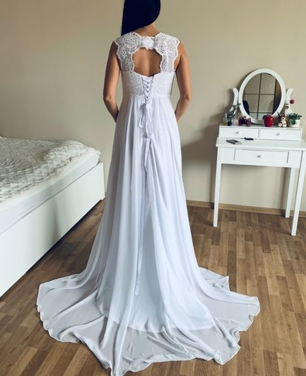těhotenské antické svatební šaty vel. Xl_XXL - Obrázek č. 2