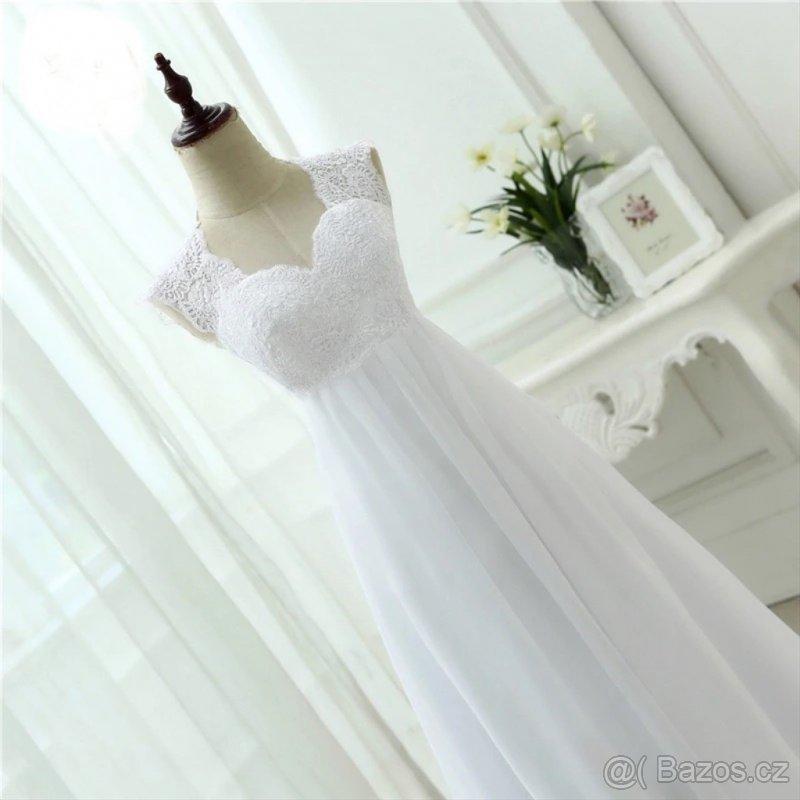 těhotenské antické svatební šaty vel. Xl_XXL - Obrázek č. 3