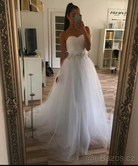 svatební šaty xs-m - Obrázek č. 1