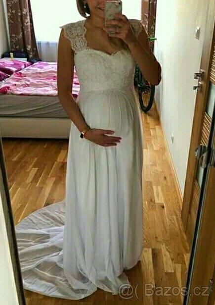 nové svatební těhotenské šaty s-xl - Obrázek č. 1