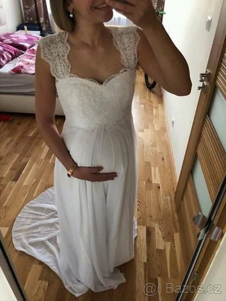 nové svatební těhotenské šaty s-xl - Obrázek č. 2