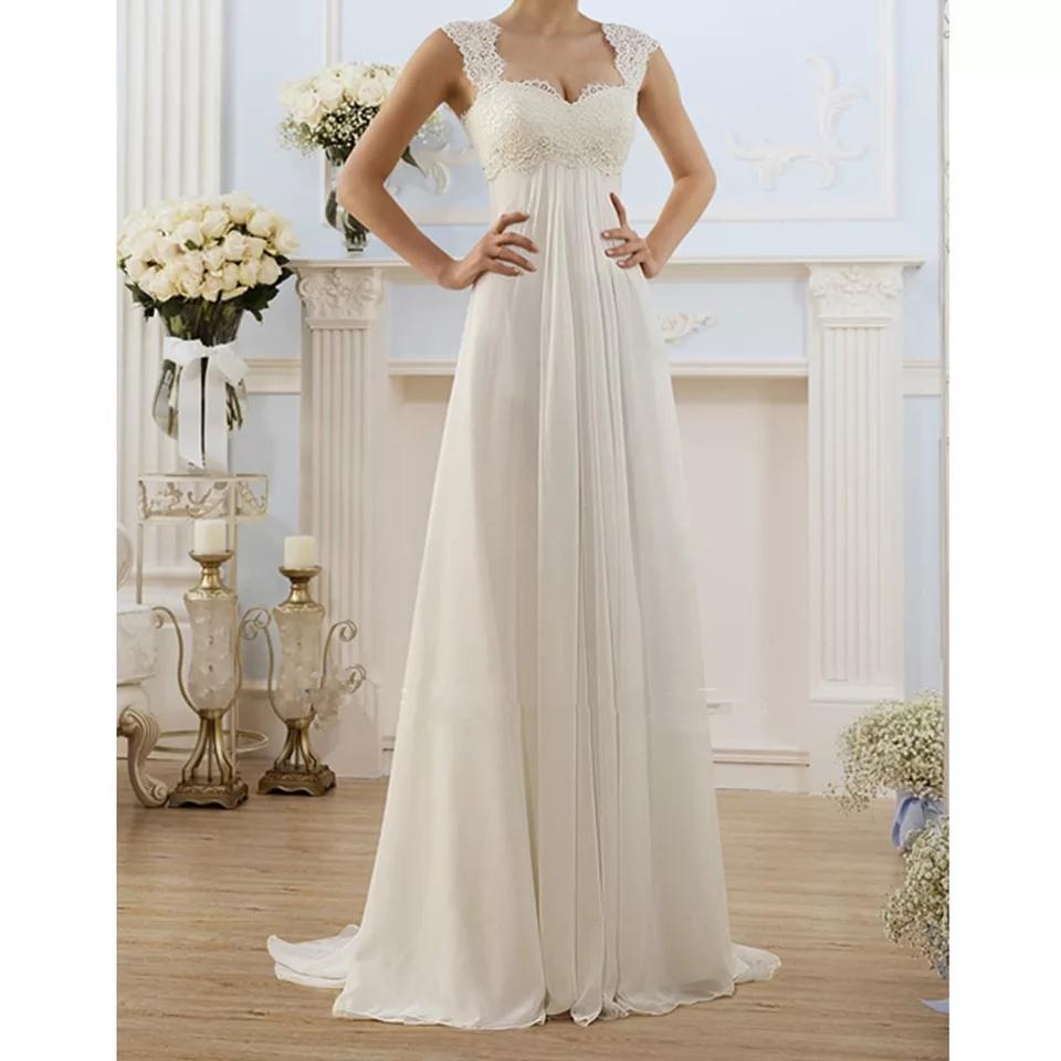 Nové svatební těhotenské šaty M-xl - Obrázek č. 1