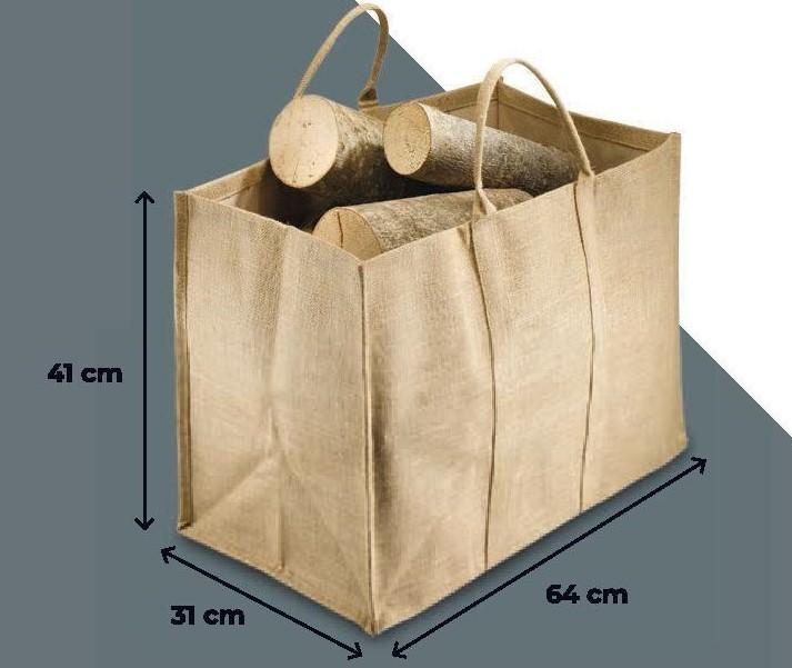 Praktická taška na brikety NATURAL - Obrázok č. 1