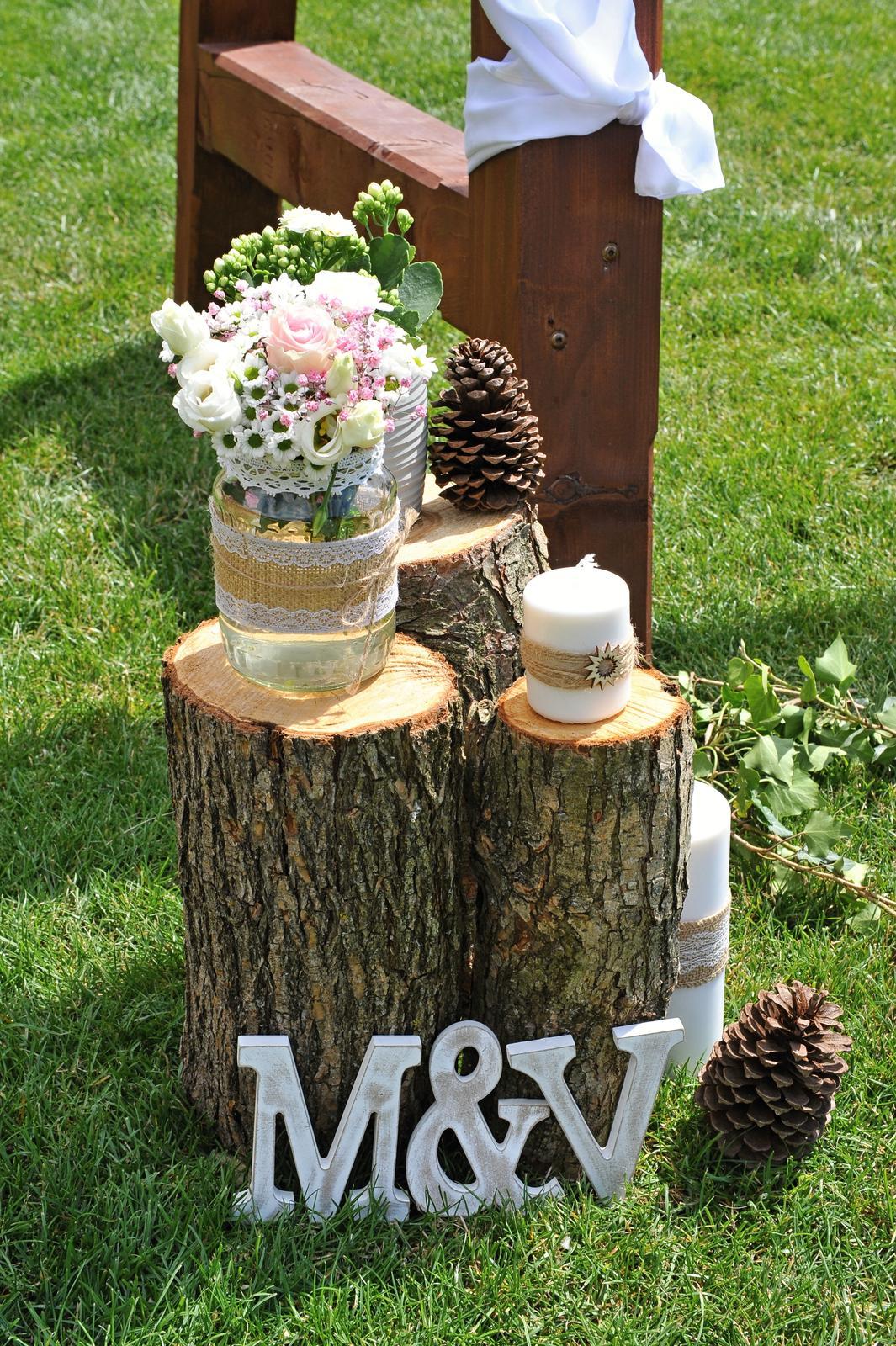 Svatební dekorace (přírodní - juta) komplet výzdoba - Obrázek č. 1