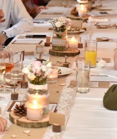 Dřevěné kulatiny na stoly - Obrázek č. 1